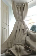 "NEW! Heavy 55"" Wide 93"" Long Natural 100%Irish Linen Cotton Lined Bay Curtains"
