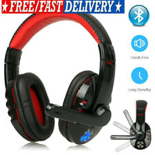 Wireless Bluetooth Gaming Headset W/ Mic Headphones For PC Laptop PS4 Xbox One