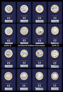 2015 to 2021 Certified Brilliant Uncirculated Two Pound £2 Coins - Various Years