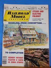 Railroad Model Craftsman Magazine 1986 September Scenery without plaster SF Zebr