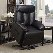 Black Power Recliner Chair Lift Hugger Assist Renu Leather Recline Lazy Boy Wall