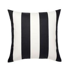 IKEA VARGYLLEN Kissenbezug schwarz/weiß; 100% Baumwolle; (50x50cm) Kissenhülle