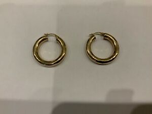 Stunning 9ct Yellow Gold Large Hoop Earrings