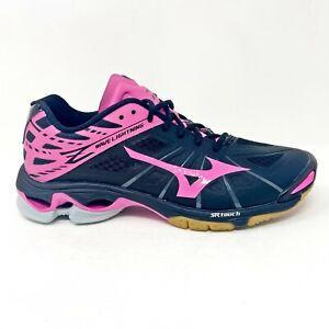 Mizuno Wave Lightning Z Black Pink Gray Indoor Volleyball Shoes