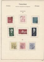 germany 1956/57 democratic republic stamps page  ref 18759