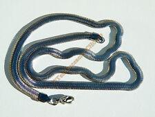 Collier Chaine Acier Serpentine Maille Serpent Plat