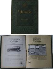 Daimler Straight Eight 8 Series V 4.5 1938-39 Original luxury Sales Brochure