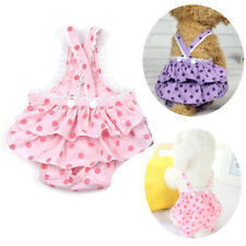 More details for washable female dog puppy pet nappy diapers season menstrual sanitary pants uk
