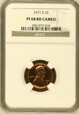 1971 S Lincoln Cent NGC PF 68 RD Cameo