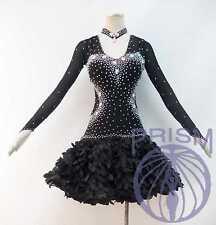 LATIN RHYTHM SALSA BALLROOM DANCE DRESS COMPETITION Custom Size L13376