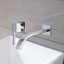 Bathroom Wall Mount Basin Mixer Separate Spout Faucet Single Handle Tub Taps