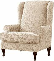Subrtex Wing Chair Slipcovers Stretch Spandex Cover Elastic Armchair Sofa Cover