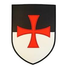 knights templar cross shield rubber PVC crusaders morale christian army patch