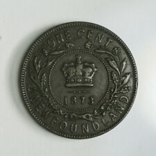 1873 Newfoundland One Cent Coin - Queen Victoria