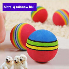 Rainbow Ball Pet Dog Cat Puppy Chew Toys Durable Bite Balls Interactive Training