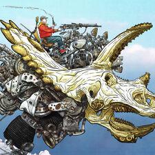 "SHAOLIN COWBOY Signed ART PRINT Triceratops Head GEOF DARROW 18 x 13"" DINOSAUR"