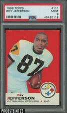 1969 Topps Football #111 Roy Jefferson Pittsburgh Steelers PSA 9 MINT