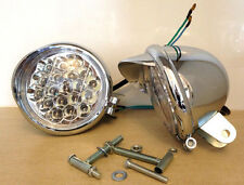 """4"""" LED Spotlights+Built-in Eagle Visor-12V- 21W Motorcycle-Custom Bikes-Trike"""