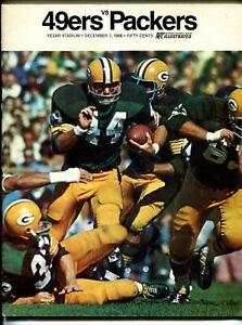 San Francisco 49ers NFL Football Program-Green Bay Packers-12/1/1968-pix-G/VG