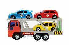 Zeus Toys Mini Carrier Trailer Truck Car Push and Go Friction Powered Toy