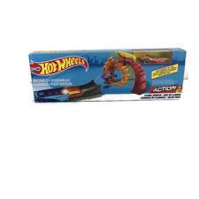 Hot Wheels Die-cast Car Action Flame Jumper Toy Fire Track Play Set Orange