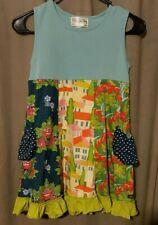 Girls Matilda Jane  Dress Size 8 Floral Polka Dot Pockets