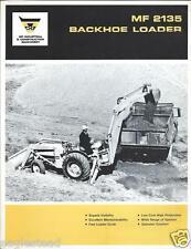 Equipment Brochure - Massey Ferguson - Mf 2135 - Backhoe Loader - c1968 (E2604)