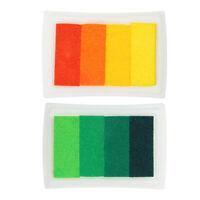 4 Shade Farben Stempelkissen Fingerabdruck Korea DIY Craft Prägung Orange