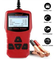 NEXAS 12V Battery Load Tester & Charging System Analyzer 100-1000 CCA AGM GEL
