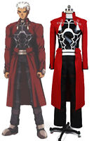 Fate/Stay Night Unlimited Blade Works Archer Cosplay Costume Outfit Uniform Suit