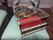 Vintage Piano Music Box Lucite Hong Kong 5.5� X 6� Works!