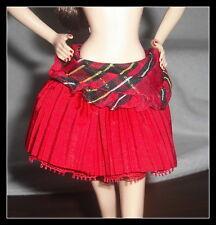 SKIRT BARBIE DOLL LITTLE RED RIDING HOOD SASSY RED SKIRT BOTTOM ACCESSORY ITEM