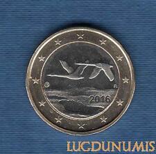 Finlande 2016 – 1 euro Deux Cygnes SPL FDC Provenant de rouleau