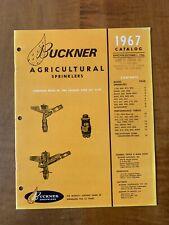 Buckner Agriculture Sprinkler 1967 Catalog