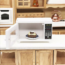 Wood Miniature Microwave Oven For 1:12 Dollhouse Kitchen Furniture Accessories