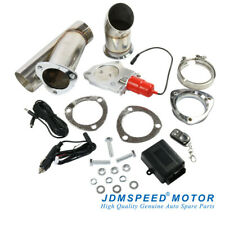 JDMSPEED 3'' Electric Exhaust Muffler Valve Cutout System Dump Wireless Remote