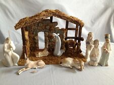 Lladro 8 piece glazed Nativity set plus Lladro creche-5Boxes-$100 Reduced Price
