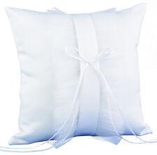 NEW White Satin & Tulle Modern Flair Wedding Ring Bearer Pillow
