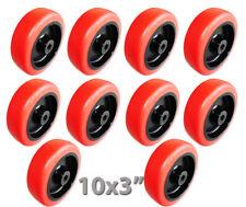 10 X 3 Wheels 14 Id Bolt Size 1 164 Hub Non Marking Carts Shelves