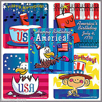 USA Stickers x 10 - 4th July Stickers - Independence Day - Happy Birthday USA