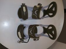 Burton Fs Snowboard bindings size large. green/white. Only lightly used