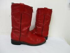 Billy Boots Red Leather Roper Cowboy Boots Womens Size 25.5 Mexico