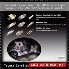 6pcs Xenon White Car LED Interior Light Package kit Fit 2009-2012 Toyota Corolla