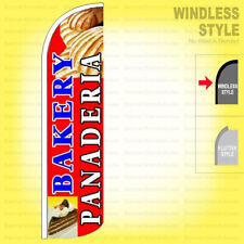 Bakery Panaderia Windless Swooper Flag 3x115 Ft Tall Feather Banner Sign Rq