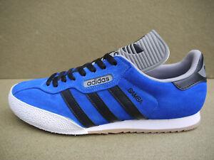 Adidas Samba Super CUSTOM Electric Blue Suede & Black Laces (UK 9) BNIBWT