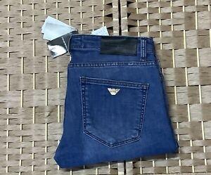 Men's Emporio Armani Jeans Denim Slim fit stretchy light Blue