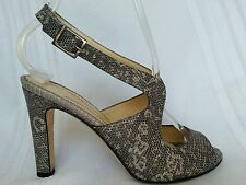 Awesome KATE SPADE women's sandals, heels, size 5.5 M snake skin pattern.