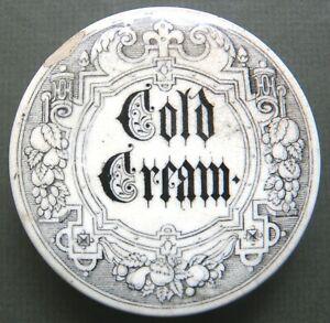 Cold Cream Pot Lid  C.1880