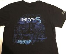 Maroon 5 Black Overexposed rock tour T-shirt concert 2013 Adult Medium