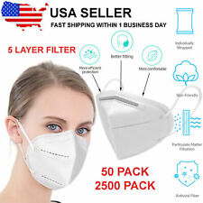 KN95 Face Mask With 5 Layer Filters & Adjustable Soft Ear Loops